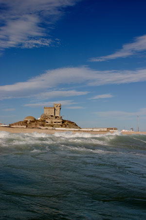 Tarifa´s Castle viwed from the sea